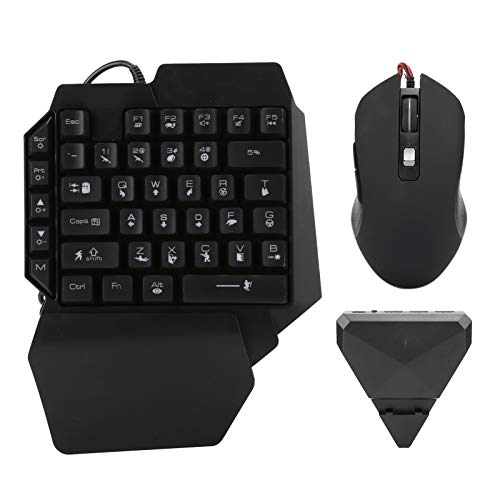Hopcd Adaptador de Teclado y Mouse para Juegos, Tableta de Teléfono con...