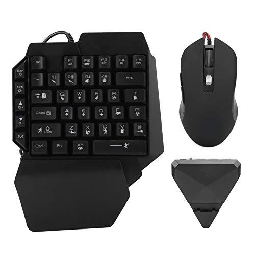 Hopcd Adaptador de Teclado y Mouse para Juegos, Tableta de Teléfono con Cable Gamepad, Conversor de Mouse y Teclado Bluetooth 4.0, para Tableta de teléfono Android
