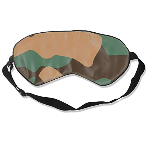 Oogmasker Camouflage Groen Slapend Masker Verstelbaar Ademend Slaap Masker Slapende Slaap Ogen Masker Oogschaduw Blindfold