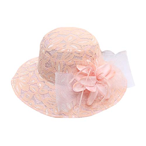 TWIFER Sommer Hut Schirmmützen Damen Sommerhut Elegante Sonnenhüte Blumen Hut für Britische Kirche Hochzeit Vintage Party Urlaub