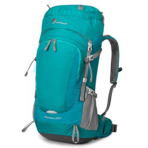 MOUNTAINTOP 50L Erwachsene Trekkingrucksäck Rucksack für Damen Herren, 30 x 24 x 67cm