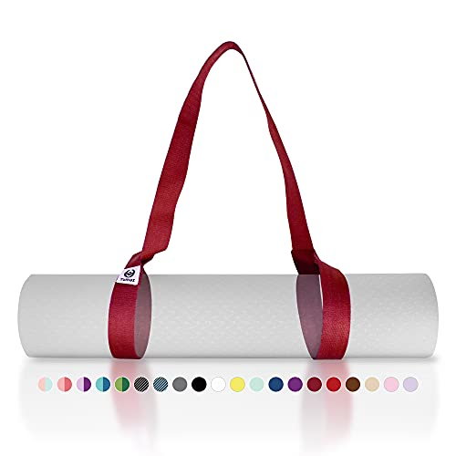 Tumaz Yoga Mat Strap [MAT NOT Included] (15+ Colors, 2 Sizes Options) with Extra Thick,...