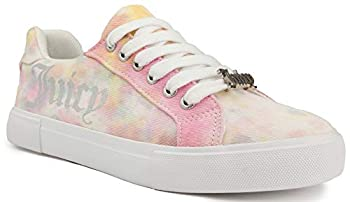 Juicy Couture Clarity Women Lace Up Fashion Sneaker Casual Shoes Clarity Pastel Tie Dye 10