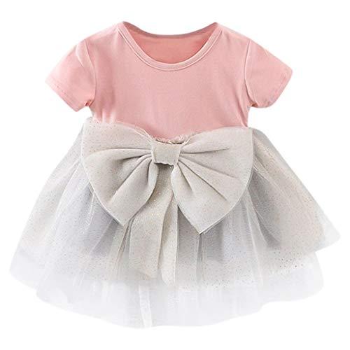 mädchen frühling Katze t-Shirt Sommer Baby locker Punktdruck kurz Hosen niedlich Kleinkind Prinzessin Kleider süße Party Oberteile Bekleidungssets, 0-4 Jahren