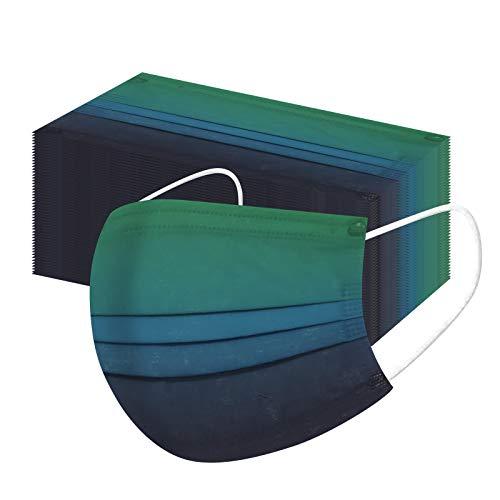 TOIRLEOQ 50/100 Stück Adult, Erwachsene Mundschutz Einweg 3-lagig Face Cover mit Motiv, Atmungsaktiv Mund und Nasenschutz Bedeckung Multifunktionstuch Halstuch für Männer Frauen