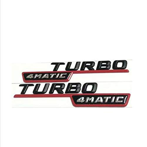 OceanAutos Para Mercedes Benz, 2 Piezas 4MATIC Turbo Insignia Emblema Etiqueta engomada del Cuerpo delCoche Puerta Car Styling