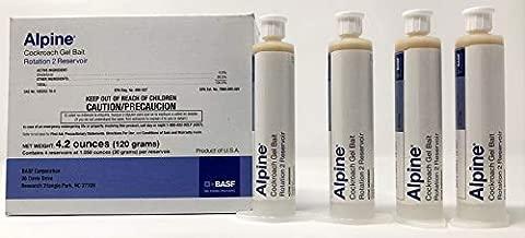Alpine Cockroach Gel Bait Rotation 2 Reservoir - 1 Box(4 x 30 Gram Tubes)