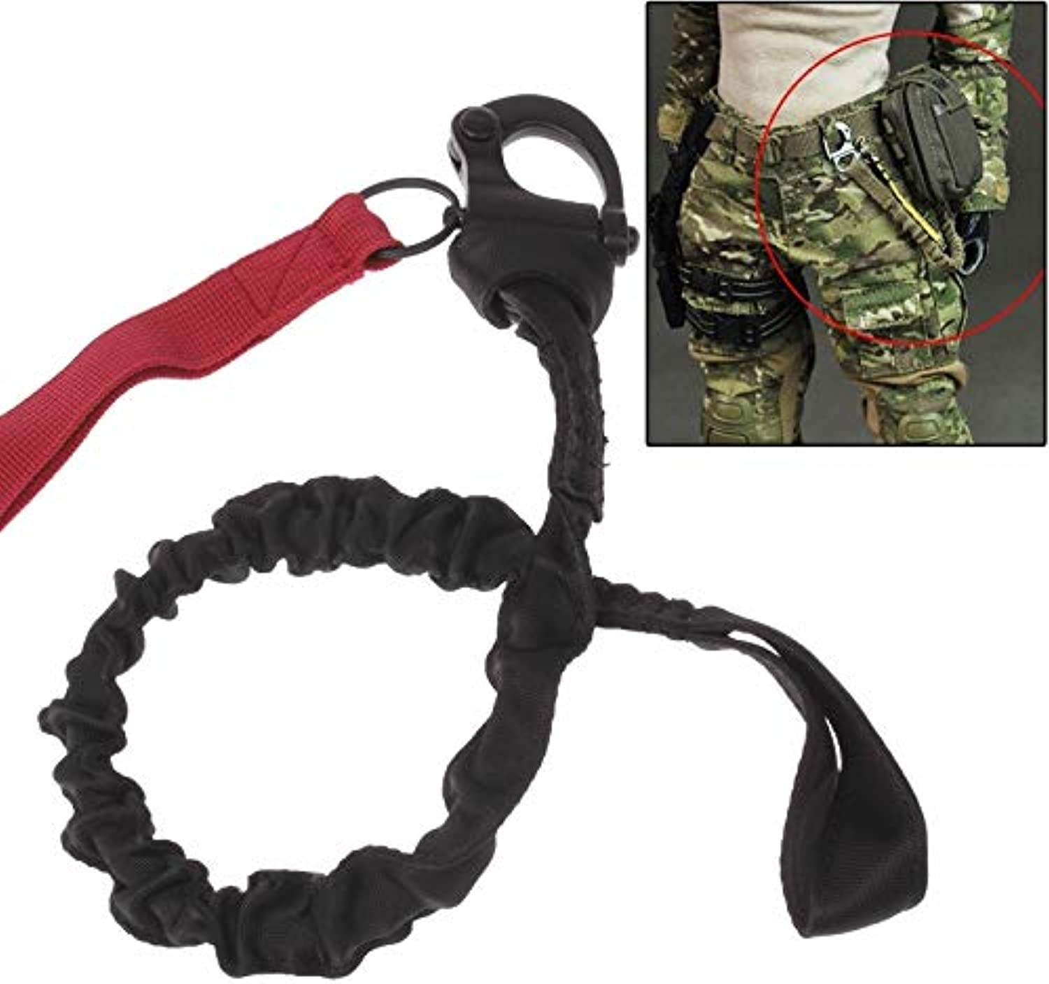 Beautiful Nylon and Stainless Steel Separate Safety Rope with Rope Quick Buckle Safety Rope Helicopter Safety Rope, Length  58 cm  70 cm Home (color   Red)