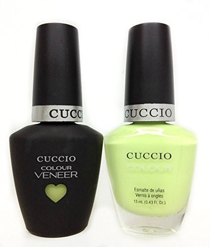 CUCCIO COLOUR - LED/UV Gel and Nail Lacquer DUO pack .5oz/15ml (6103 - In The Key Of Lime) by Cuccio