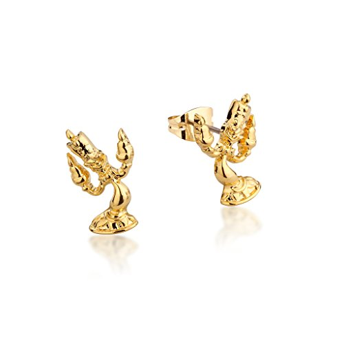 Disney Couture Kingdom Beauty & the Beast 14kt Gold-Plated Lumiere Candle Stud Earrings