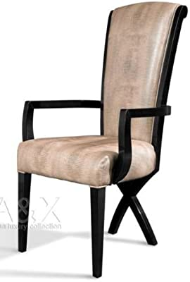 Stupendous Amazon Com Vig Furniture Transitional X Leg Crocodile Creativecarmelina Interior Chair Design Creativecarmelinacom