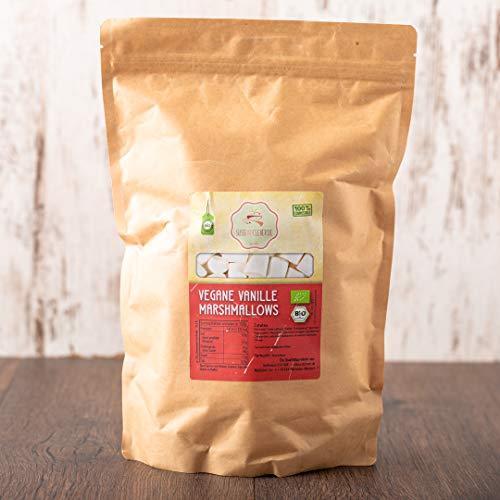süssundclever.de® Bio Marshmallows Vanille | vegan | 700 g | plastikfrei und ökologisch-nachhaltig abgepackt