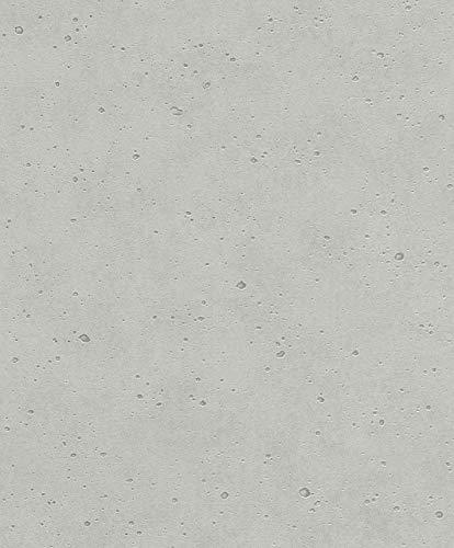 Rasch Tapeten 475210 Grau mit Beton-Struktur-10,05m x 0,53m (LxB) Vlies Tapete Rasch Kollektion Factory III, 10,05 x 0,53
