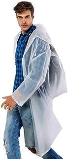 XUECHEN Raincoats Unisex Ladies Men Waterproof Plastic Thick Long Backpack Rain Coat Jacket Rainwear Poncho Hiking Hooded ...