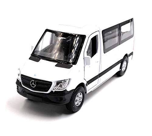 Onlineworld2013 Sprinter Fenster Weiss Modellauto Auto Maßstab 1:34 (lizensiert)