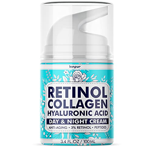 Anti-Aging Face Moisturizer for Women and Men with Lifting, Firming Effect - Day and Night Retinol Cream for Face, Neck with Sun Protection - Made in the USA - Anti-Wrinkle Cream with Hyaluronic Acid