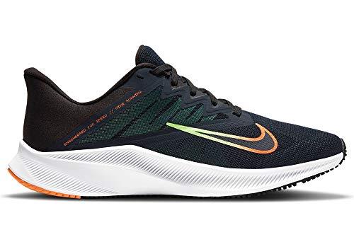 Nike Quest 3, Zapatillas para Correr Hombre, Obsidian Atomic Orange Black Lime Glow, 47.5 EU