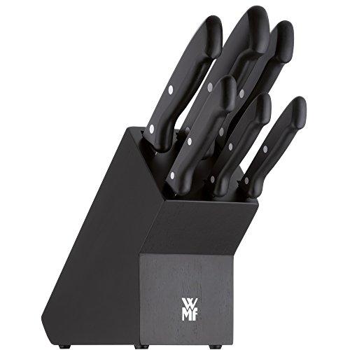 WMF Messerset Messerblock 7-teilig Classic Line, schwarz