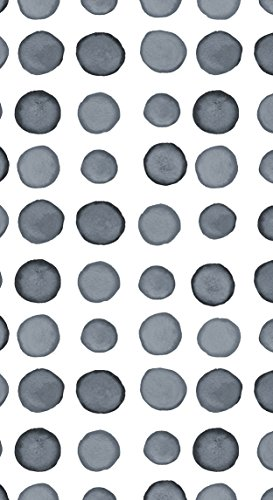 Creative Converting 16 Count Elise Premium Patterned Paper Guest Towels/Large Napkins, Dotted and Striped, Platinum