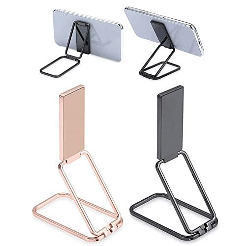 Soporte de anillo de teléfono de 2 piezas, rotación de 360°, hebilla de anillo plegable, retráctil para soporte magnético para coche, compatible con la mayoría de teléfonos y tabletas