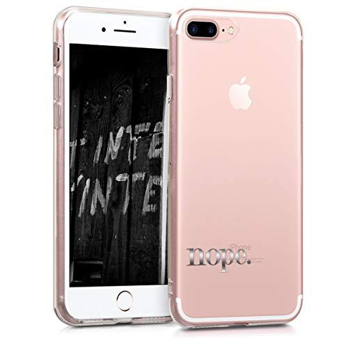 Preisvergleich Produktbild kwmobile Apple iPhone 7 Plus / 8 Plus Hülle - Handyhülle für Apple iPhone 7 Plus / 8 Plus - Handy Case in Nope Design Silber Transparent