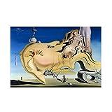 Pintura decorativa Obra de arte famosa SalV-ador Dali cara del gran masturbador...