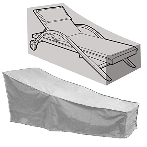 HFM Copertura per mobili da Giardino, Copertura per Sedia per Il Tempo Libero all'aperto, Copertura per Sedia da Giardino Impermeabile, Antivento, Anti-UV, Antipolvere (208x79x76cm),Grigio