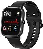 Reloj Fitness, Rastreador de Ejercicios con Oxígeno en Sangre, Presión Arterial, Monitor de Frecuencia Cardíaca,Black