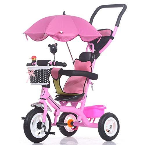 LUO Bicicleta, Carrito plegable para bicicletas para niños