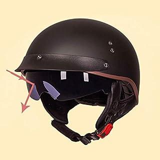 Harley Motorradhelm, Herren Retro Anti-Shock Half Face Motorrad Helme mit Sonnenblende Outdoor Motocross Mountain Motocross Cap Zubehör
