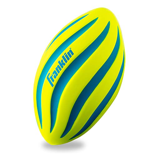 Franklin Sports Foam Football  Perfect for Practice and Backyard Play – Best for FirstTime Play and Small Kids – Spiral Football  9 inches