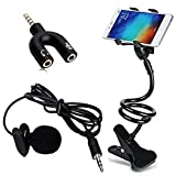 Drumstone [3 in 1 - Videographer's Choice] 3.5 mm Clip-on Lapel Mic Microphone