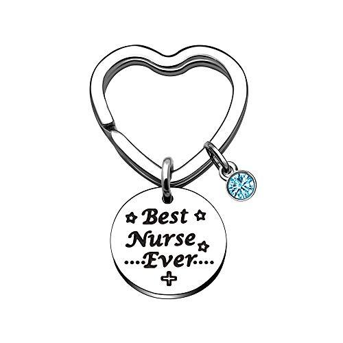 Schlüsselanhänger für Krankenschwestern, silberfarbener Kristall-Anhänger, Schlüsselring für Krankenschwestern
