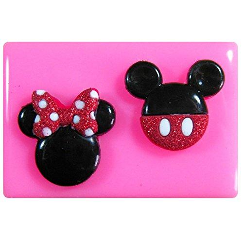 Mickey y la cara del ratón de Minnie Molde de silicona para la torta de Decoración Pastel de Cupcake Toppers Glaseado Sugarcraft Tool por Fairie Blessings