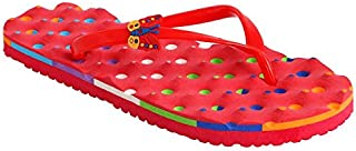 HD Embossing Red Latest Casual Flat Chappal for Ladies and Girls