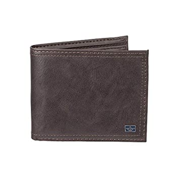 Dockers Men s Leather Passcase Wallet Brown One Size