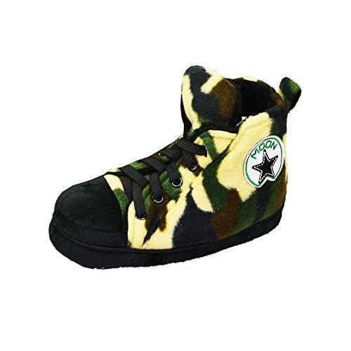 Something Special Hommes Femmes & Enfants Runner Haut Doublé Polaire Pantoufle Bottes - Enfants - Camo Vert, 11/12 UK Enfant