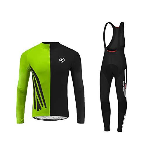 Future Sports UGLYFROG Jerseys de Ciclismo para Hombres - Uniforme de Moto de Manga Larga Transpirable con 3D Gel Pad Pantalones para Ropa de Ciclismo Profesional