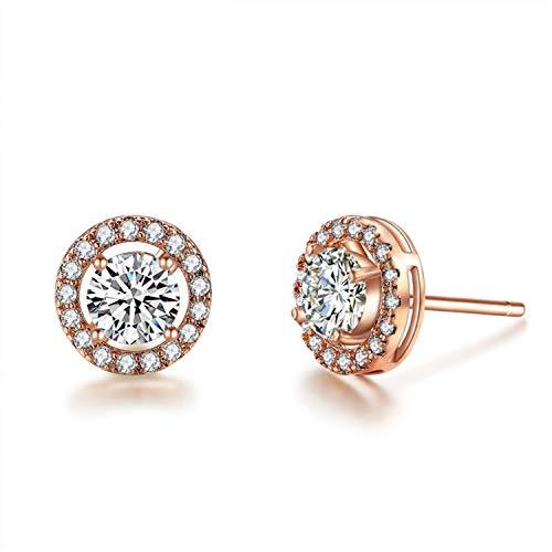 Daawqee Orecchini, Cut Top Quality 0.75 Carat AAA+ CZ Stone Stud Earrings For Women Brincos Oorbellen Boucle D'oreille UE0012 UE0012A