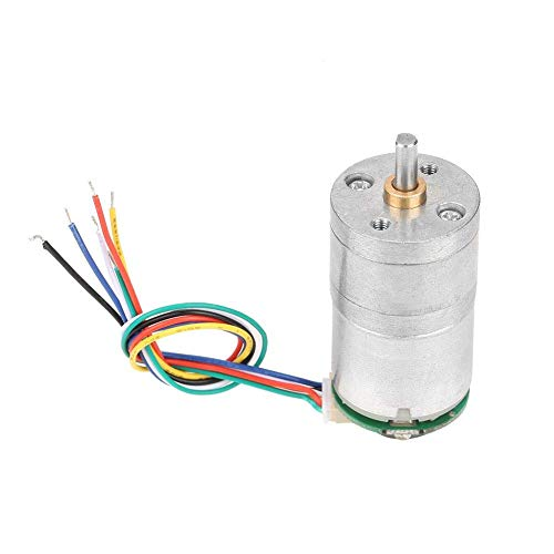 BINGFANG-W DC Getriebemotor, 12V DC GM25-310 Geber Getriebe Motor Speed ​​Reduction-Motor mit Encoder und Kabel for Fensteröffner, Türöffner, Mini Winde (DC12 30rpm) Motors