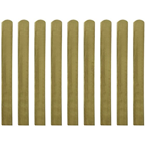 vidaXL 10x Legno di Pino FSC Stecche per Recinto da Giardino 100 cm Recinzione