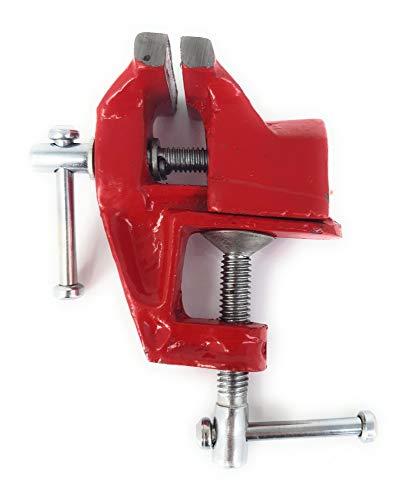 Mesa Tornillo envergadura 60mm ancho de mandíbulas 60mm Metal Fundido Rojo Resistente...