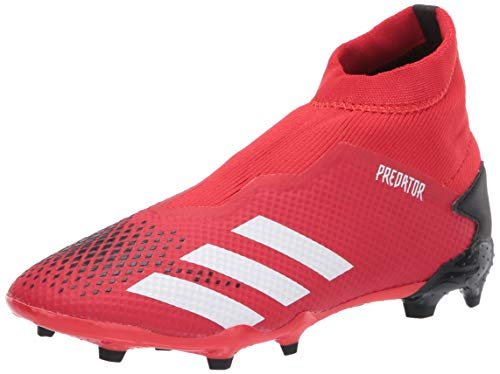 adidas Men's Predator 20.3 Firm Ground Soccer Shoe, Active Red/White/Core Black, 4