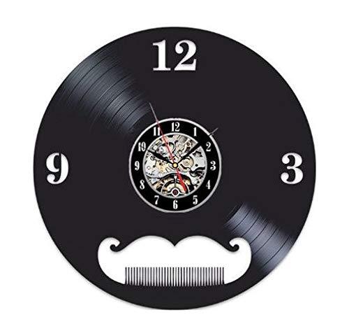 wtnhz LED-Creative Vinyl Clock CD Record Art Wall Clock Hairdresser Barber Tools Design Clock