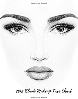 2018 Blank Makeup Face Chart: Female Faces Large Notebook