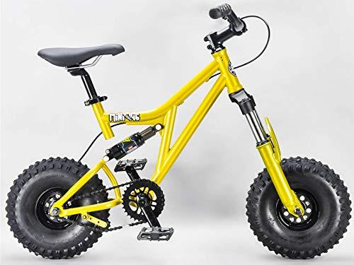 Rocker BMX Mini Rig Downhill Bike Gold Griffe und Rollen Farbe wählbar, MINIRIGGOLD, Schwarz