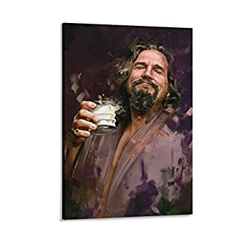 RACHELINE Abstract Watercolor Poster The Big Lebowski Canvas Art Poster and Wall Art Picture Print Modern Family Bedroom Decor Posters 16×24inch 40×60cm