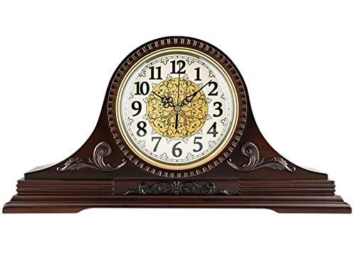 Gaojian Relojes de sobremesa, Reloj de Manto, Campana de Madera, Reloj Decorativo para Chimenea de Westminster, un Estante de Madera Maciza Que Funciona con Pilas, Oficina, Escritorio, estantería