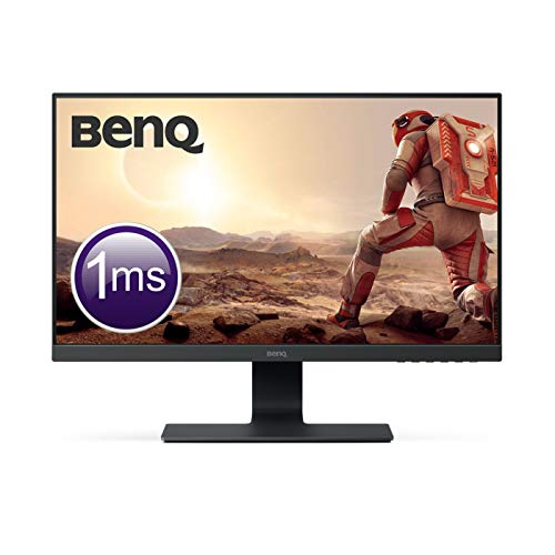 "BenQ GL2580HM - Monitor Gaming de 24.5"" Full HD (1920x1080, LED, 16:9, HDMI, DVI, VGA, 1ms, altavoces, Eye-care, Flicker-free, Low Blue Light, antirreflejo, E2E bisel estrecho sin marco), negro"