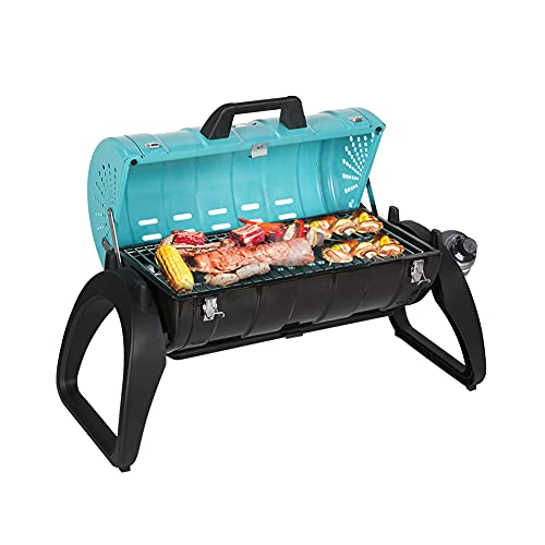 Camplux Tabletop Propane Grill 10,000BTU, Portable Gas Grills with Thermometer,...